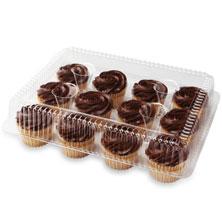 Fudge Iced Vanilla Cupcakes, 12-Count