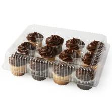 Fudge Iced Assorted Cupcakes, 12-Count