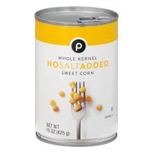 Publix Sweet Corn, Whole Kernel, No Salt Added
