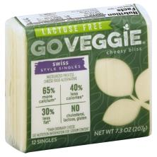 Go Veggie Cheese Food Alternative, Pasteurized Process, Swiss Style Singles