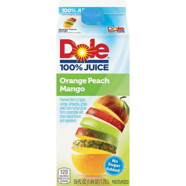 Dole 100% Juice, Orange Peach Mango