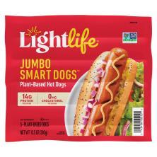Lightlife Smart Dogs Veggie Hot Dogs, Meatless, Jumbo
