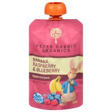 Pumpkin Tree Peter Rabbit Organics Fruit Puree, Organic, Banana, Raspberry & Blueberry