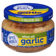 Spice World Garlic, in Extra Virgin Olive Oil, Minced
