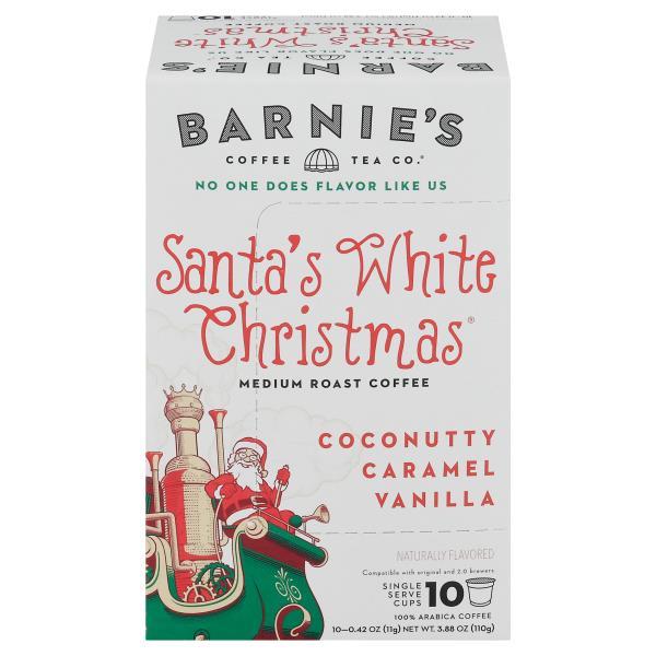 barnies coffeekitchen coffee medium roast santas white christmas single serve cups