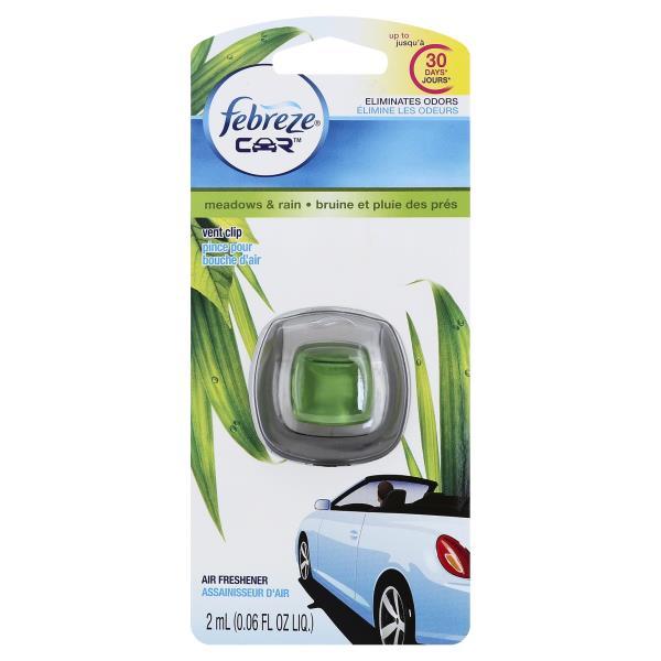 Febreze Car Air Freshener, Meadows & Rain, Vent Clip