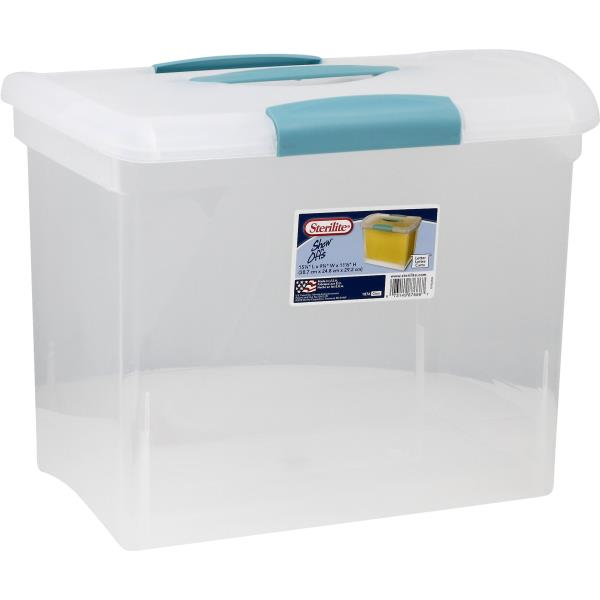 Sterilite Show Offs Storage Container, Clear
