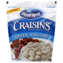 Ocean Spray Craisins Cranberries, Dried, Greek Yogurt