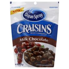 Ocean Spray Craisins Cranberries, Dried, Milk Chocolate