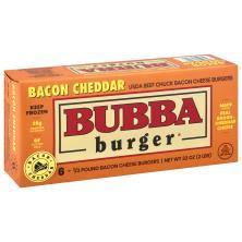 Bubba Cheeseburgers, Gluten Free, Bacon Cheddar