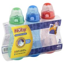 Nuby Bottles, Standard Neck, 10 oz, 0M+, 3 Pack