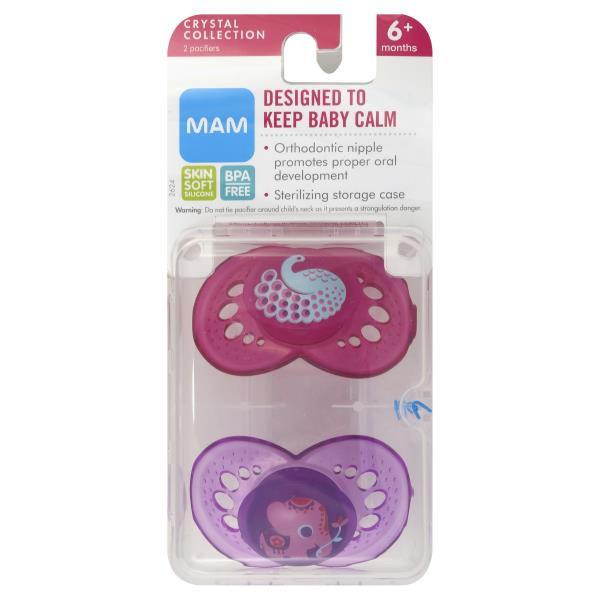 picture about Mam Printable Coupon identify MAM Pacifiers, Crystal Selection, 6+ Weeks :
