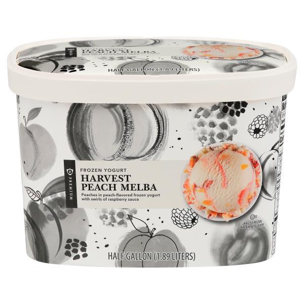 Publix Premium Frozen Yogurt, Lowfat, Harvest Peach Melba