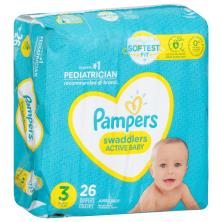 Pampers Swaddlers Diapers, Size 3 (16-28 lb), Blankie Soft Heart Quilts, Jumbo Pack