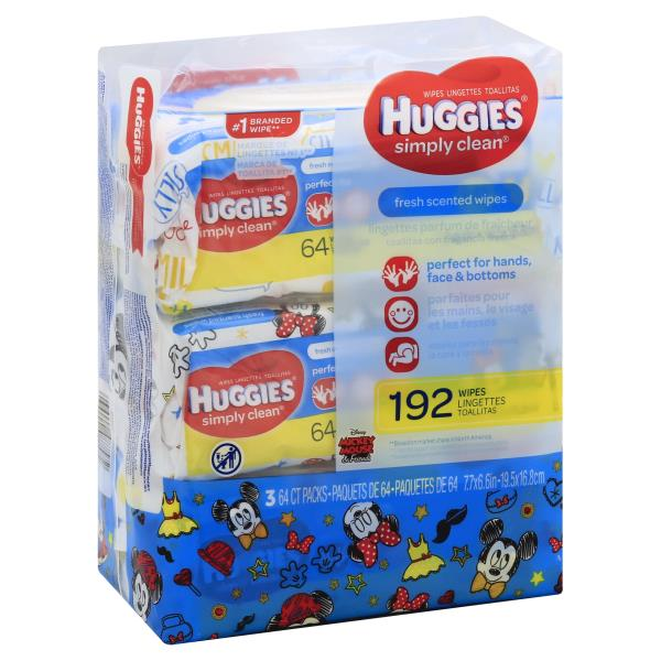Huggies Simply Clean Wipes, Fresh Scented, Disney Mickey Mouse & Friends