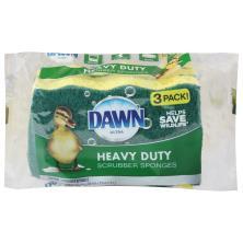 Dawn Scrubber Sponges, Heavy Duty