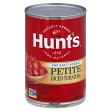 Hunts Tomatoes, No Salt Added, Petite Diced