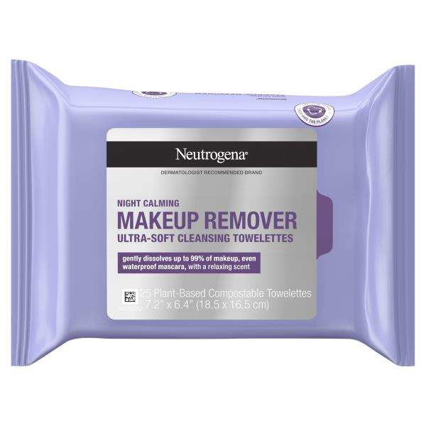 Neutrogena Makeup Remover, Cleansing Towelettes, Night Calming