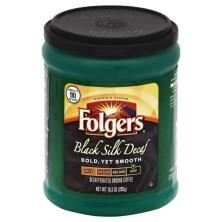 Folgers Coffee, Ground, Dark, Black Silk Decaf