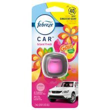 Febreze Car Air Freshener, with Gain Island Fresh Scent, Vent Clip