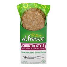 Al Fresco Chicken Sausage, Country Style, Breakfast Patties, Bun Size