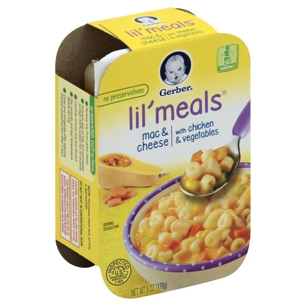 Gerber Lil Meals Mac Cheese With Chicken Vegetables Publix