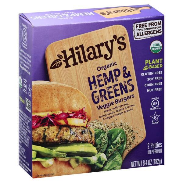 Hilarys Eat Well Burger, Hemp & Greens