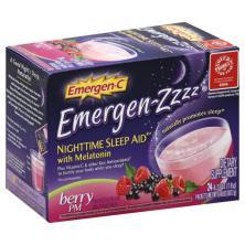 Emergen C Emergen-Zzzz Nighttime Sleep Aid, with Melatonin, Berry PM