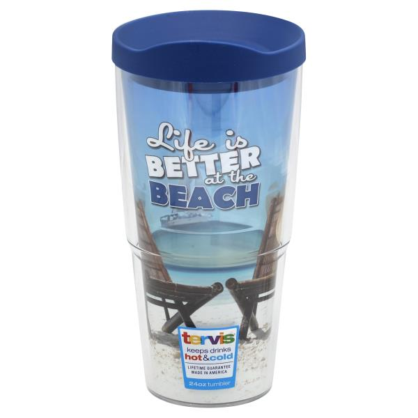 Tervis Tumbler With Lid Life Better At The Beach 24 Ounce
