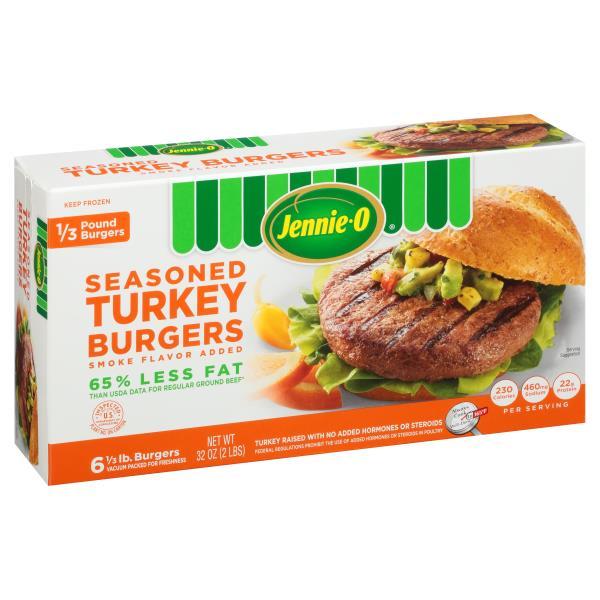 Jennie O Turkey Burgers, Seasoned