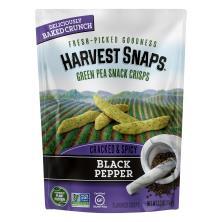 Harvest Snaps Snack Crisps, Green Peas, Black Pepper