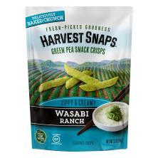 Harvest Snaps Crisps, Baked, Snapea, Green Pea, Wasabi Ranch