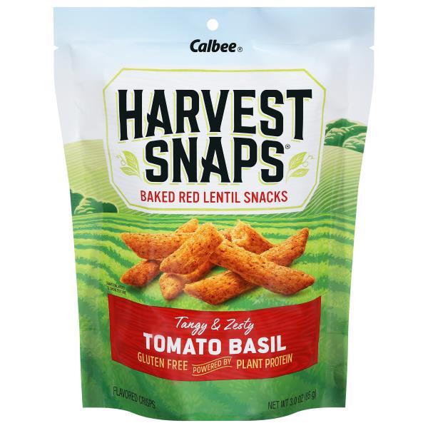 Harvest Snaps Crisps, Baked, Lentil Bean, Tomato Basil