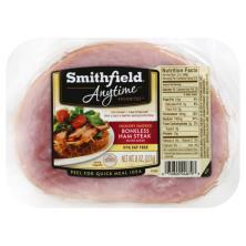 Smithfield Anytime Favorites Ham Steak, Boneless, Hickory Smoked