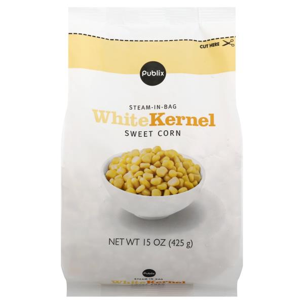Publix Sweet Corn, White Kernel, Steam-in-Bag