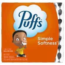 Puffs Basic Facial Tissue, Non-Lotion, White, 2-Ply