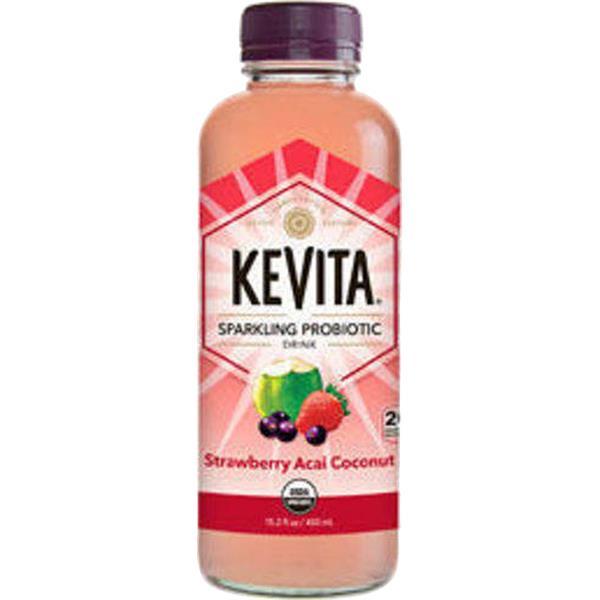KeVita Probiotic Drink, Sparkling, Strawberry Acai Coconut