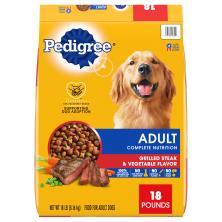 Pedigree Food for Dogs, Grilled Steak & Vegetable Flavor, Adult, Bonus Size