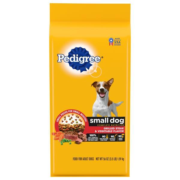 Pedigree Food for Dogs, Grilled Steak & Vegetable Flavor, Small Dog