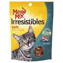 Meow Mix Irresistibles Treats for Cats, with Salmon, Soft