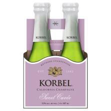 Korbel Sweet Cuvee Champagne, California Champagne