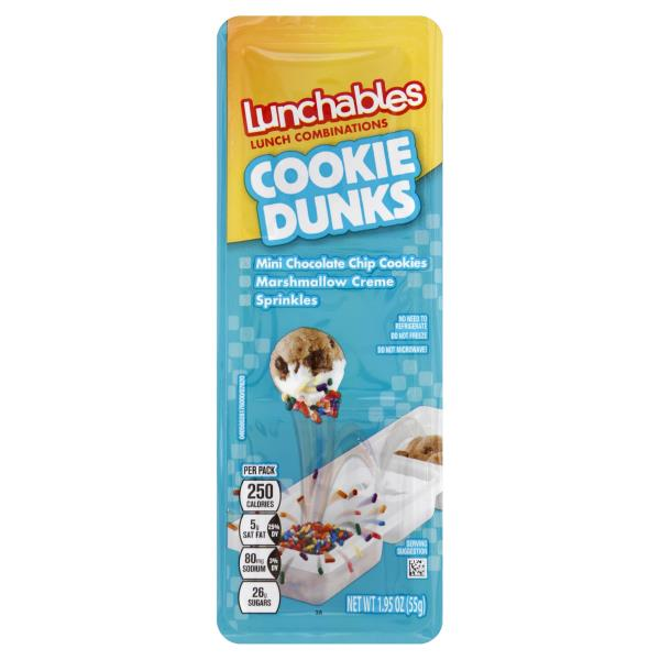 Lunchables Snack Combinations, Cookie Dunks
