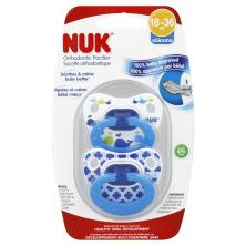 Nuk Pacifier, Orthodontic, Silicone, 18-36 M