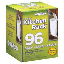 Extrufix Kitchen Rack Bags, 3 Gallon, Value Pack!