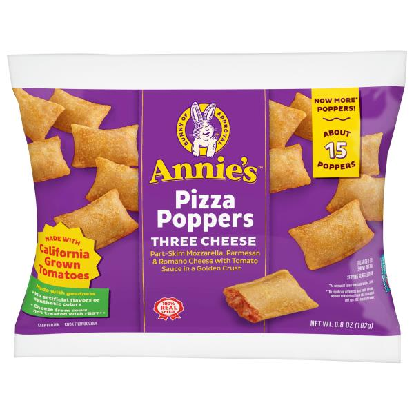 Annies Pizza Poppers, Three Cheese