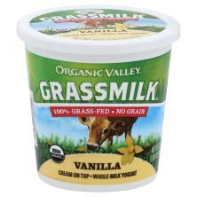 Organic Valley Grassmilk Yogurt, Whole Milk, Cream On Top, Vanilla