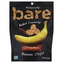 Bare Banana Chips, Crunchy, Cinnamon