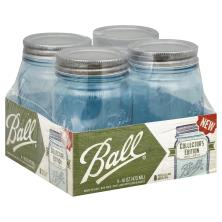 Ball Collection Elite Color Series Mason Jars, Wide Mouth, Blue Pint