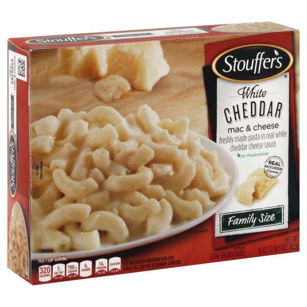 Stouffers Mac & Cheese, White Cheddar, Family Size