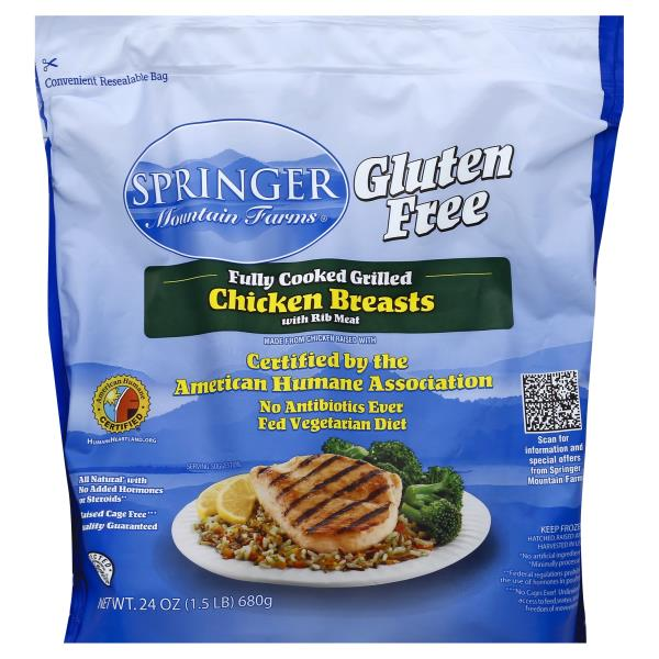 Springer Mountain Farms Chicken Breast Fully Cooked Grilled